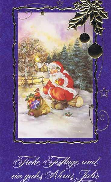 Weihnachtskarte klassisch gestaltet 4