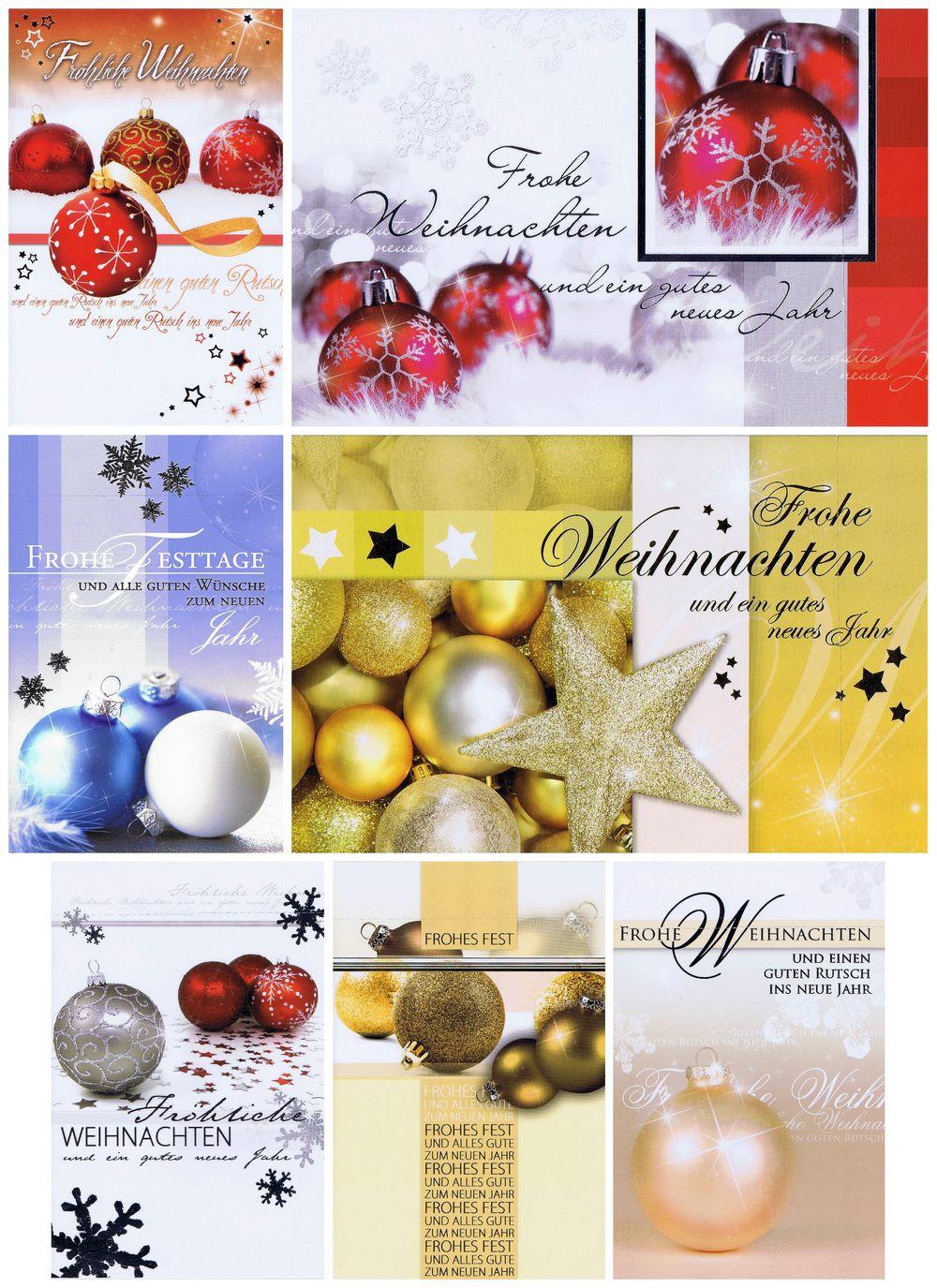 Weihnachtskarten in dezenten Farbtönen und edlem Look