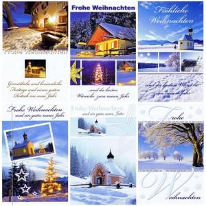 6 Weihnachtskarten mit winterlichen Fotomotiv