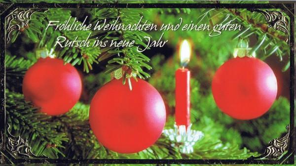 Klappkarte - Weihnachten - mit Goldprägung (22-3434)