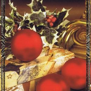 Klappkarte - Weihnachten - mit Goldprägung (22-3441)