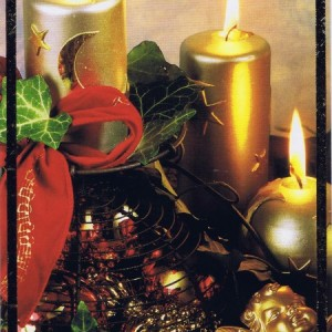 Klappkarte - Weihnachten - mit Goldprägung (22-3436)