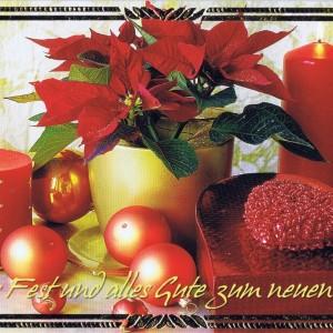 Klappkarte - Weihnachten - mit Goldprägung (22-3439)