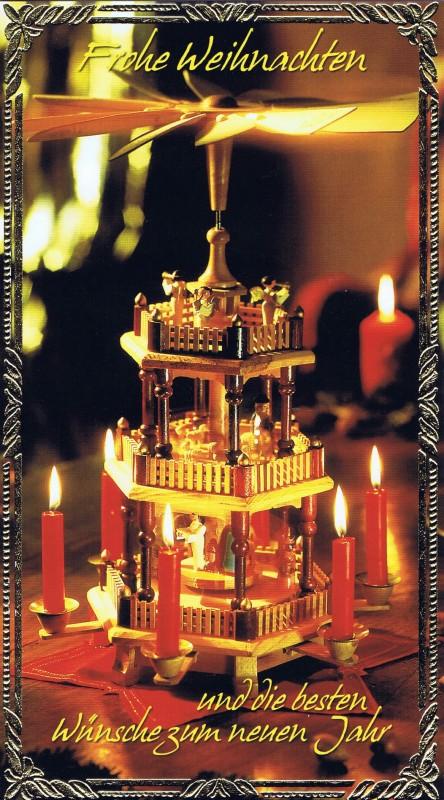 Klappkarte - Weihnachten - mit Goldprägung (22-3437)