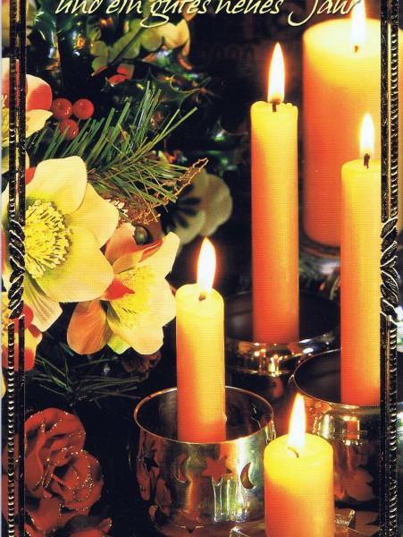 Klappkarte - Weihnachten - mit Goldprägung (22-3440)