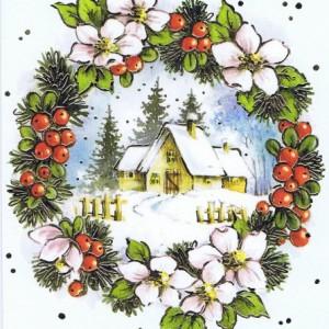 Klappkarte - Weihnachten - mit Goldprägung (22sk3559)