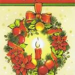 Klappkarte - Weihnachten - mit Goldprägung (22sk3554)