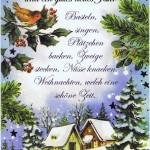 Klappkarte - Weihnachten - mit Goldprägung (22sk3560)