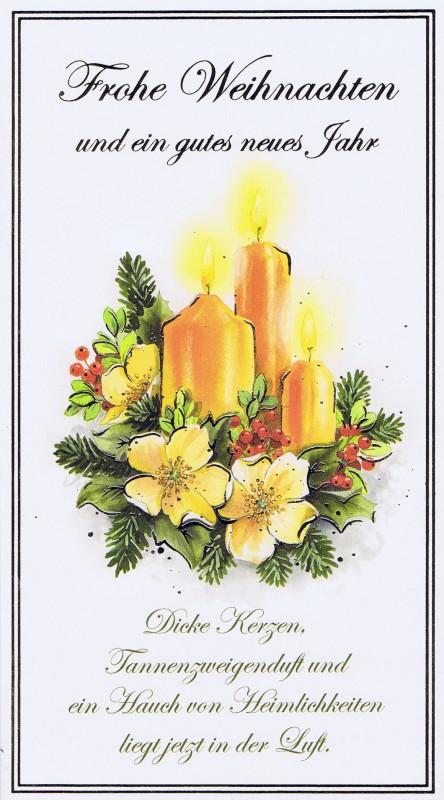 Klappkarte - Weihnachten - mit Goldprägung (22sk3557)