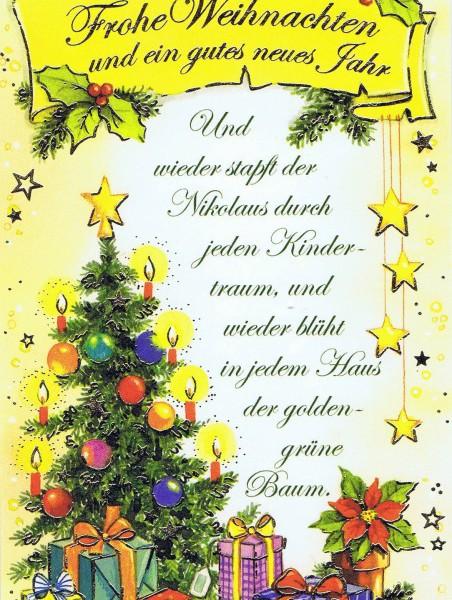 Klappkarte - Weihnachten - mit Goldprägung (22sk3555)
