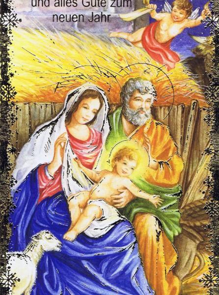 Weihnachtskarte Krippenmotiv (22-3409)