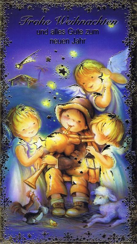 Weihnachtskarte Krippenmotiv (22-3410)