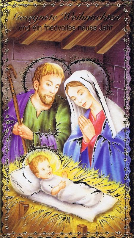 Weihnachtskarte Krippenmotiv (22-3407)