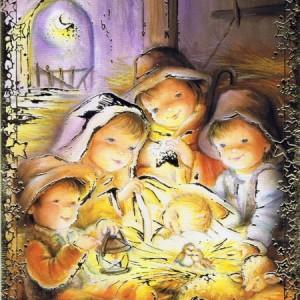 Weihnachtskarte Krippenmotiv (22-3412)