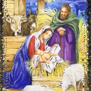 Weihnachtskarte Krippenmotiv (22-3415)