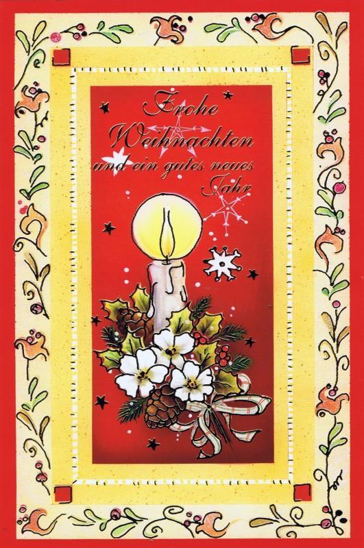 Weihnachtskarte klassisches Motiv und edler Look (22sk3530)