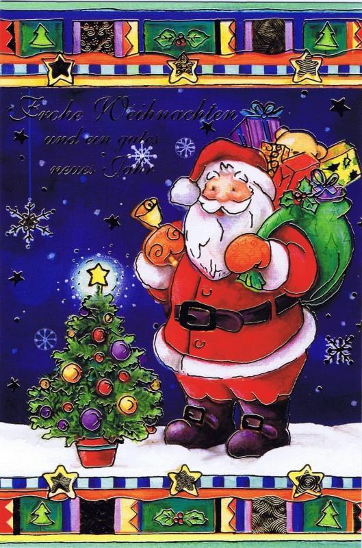 Weihnachtskarte klassisches Motiv und edler Look (22sk3531)