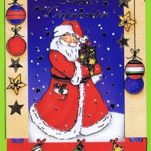 Weihnachtskarte klassisches Motiv und edler Look (22sk3527)