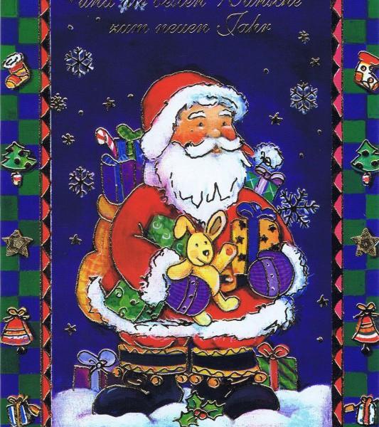 Weihnachtskarte klassisches Motiv und edler Look (22sk3532)