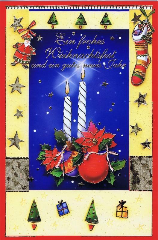 Weihnachtskarte klassisches Motiv und edler Look (22sk3528)