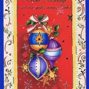 Weihnachtskarte klassisches Motiv und edler Look (22sk3529)
