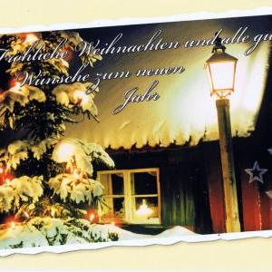 Weihnachtskarte Winterliches Motiv (22-3593)