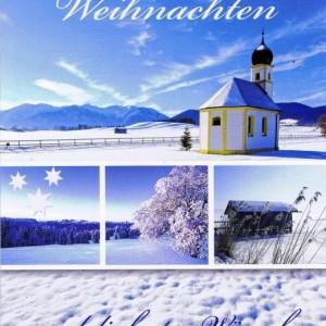 Weihnachtskarte Winterliches Motiv (22-3596)
