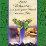 Weihnachtskarte mit weihnachtlichen Motiv im farbigen Rahmen (22sk3537)