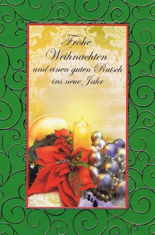 Weihnachtskarte mit weihnachtlichen Motiv im farbigen Rahmen (22sk3536)