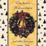Weihnachtskarte mit weihnachtlichen Motiv im farbigen Rahmen (22sk3539)