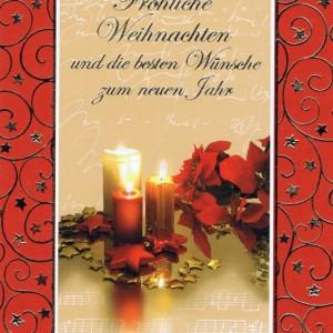 Weihnachtskarte mit weihnachtlichen Motiv im farbigen Rahmen (22sk3535)