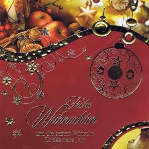 Weihnachtskarte mit Goldfolie und klassischem Weihnachtsmotiv 4