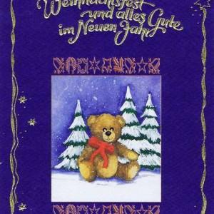 Weihnachtskarte Teddy - Ein frohes Weihnachtsfest