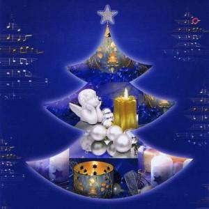 Weihnachtskarte blau Weihnachtsmotiv - Frohes Weihnachtsfest
