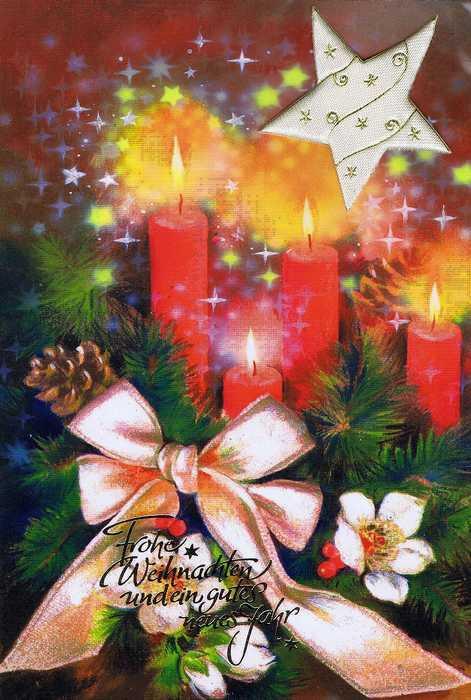 Weihnachtskarte mit Applikation