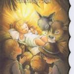Weihnachtskarte mit Goldrand Krippenmotiv 22-3807