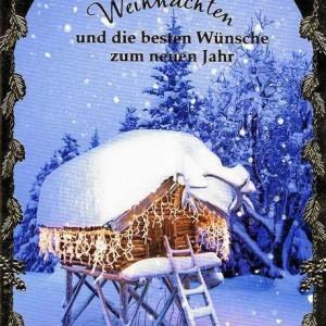 Klappkarte Weihnachten - Wintermotiv 223823