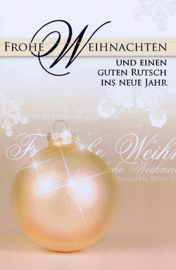 Weihnachtskarte Motiv: Weihnachtskugel lachs
