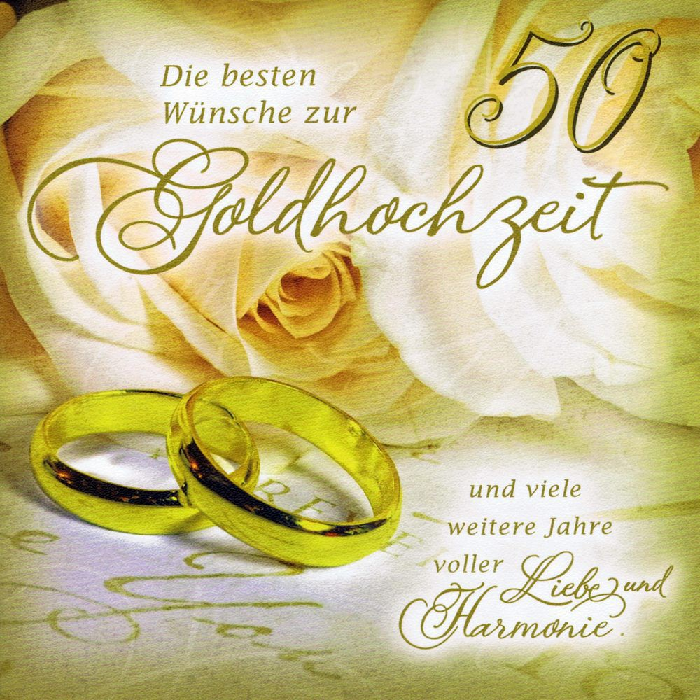 Romantische Karte - Glückwunschkarte zur Goldhochzeit
