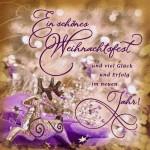 Romantische Weihnachtskarte - Weihnachten, Ein schönes Weihnachtsfest