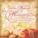 Romantische Weihnachtskarte - Weihnachten, Schöne Momente zur Weihnachtszeit