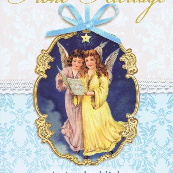 Weihnachtskarte nostalgischer Flair - Weihnachtsengel