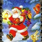 Weihnachtskarte, Lustiger Weihnachtsmann, 22-3319