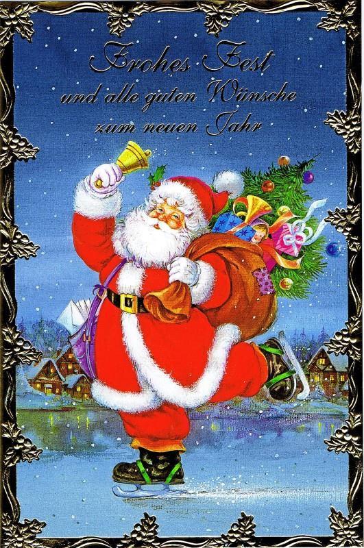 Weihnachtskarte, Lustiger Weihnachtsmann, 22-3324