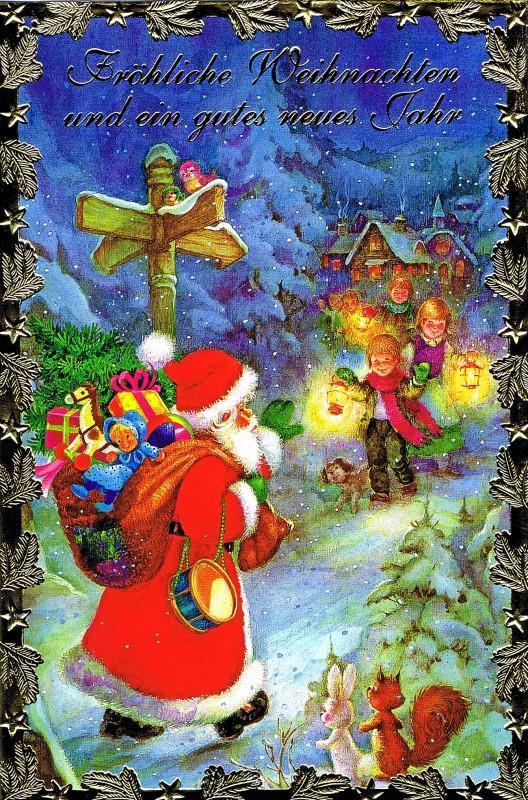 Weihnachtskarte, Lustiger Weihnachtsmann, 22-3322
