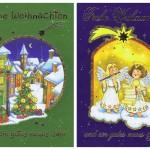 4 Weihnachtskarten mit schönen Weihnachtsmotiven