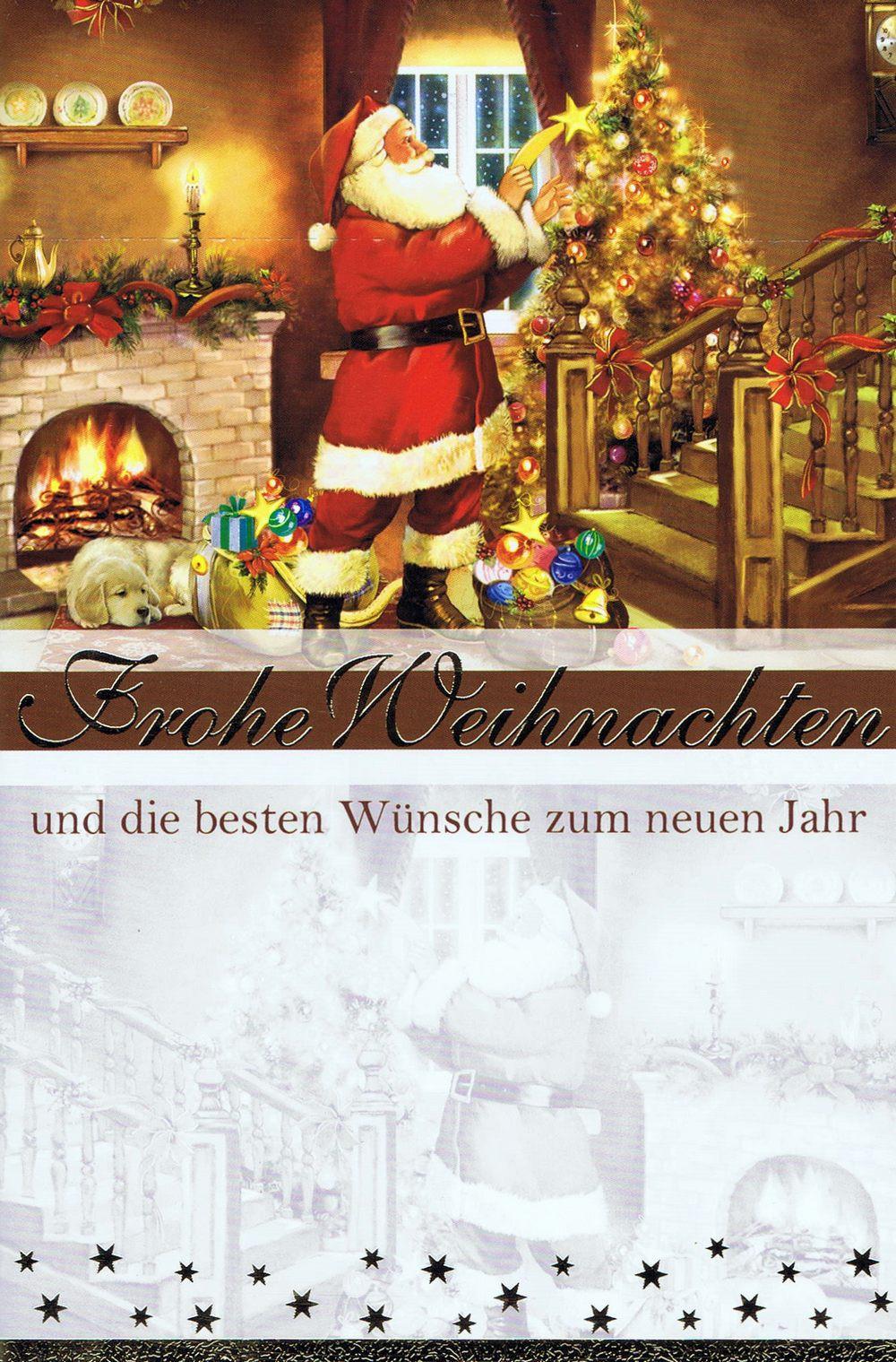 Weihnachtskarte Weihnachtsmann 224303