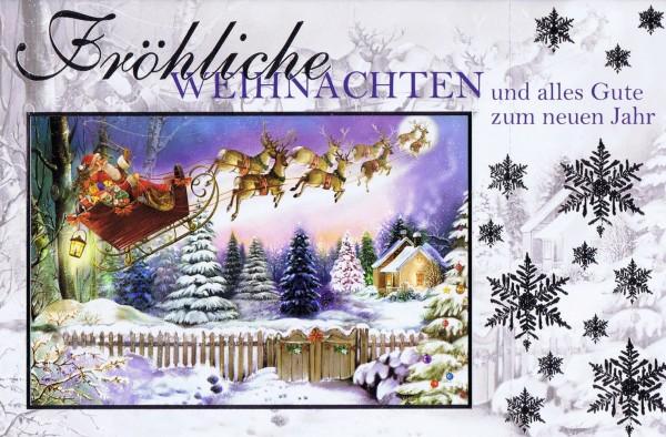 Weihnachtskarte Weihnachtsmann 224305