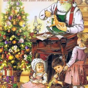 Weihnachtskarte Weihnachtsmann 224308 Details in Goldfolienprägung