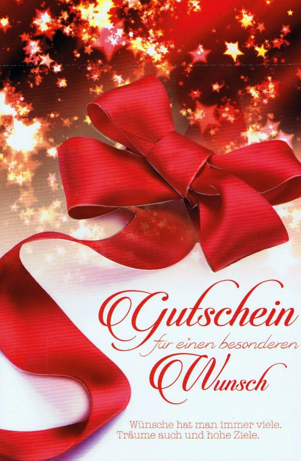 Weihnachtskarte - Gutschein für einen besonderen Wunsch